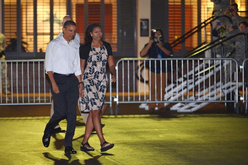 Prezidentas Obama baigė atostogas Havajuose (foto)