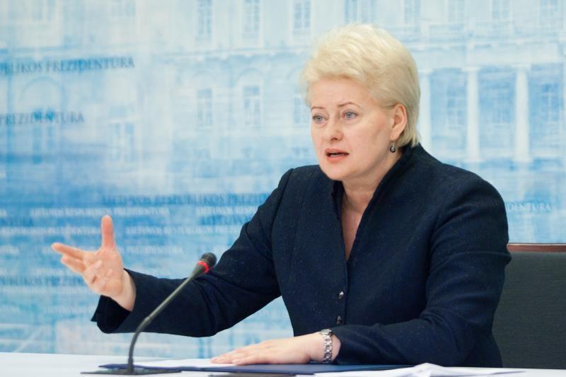 """D.Grybauskaitė: prašyti mažesnių dujų kainų reikštų """"parsivežti saulę"""""""