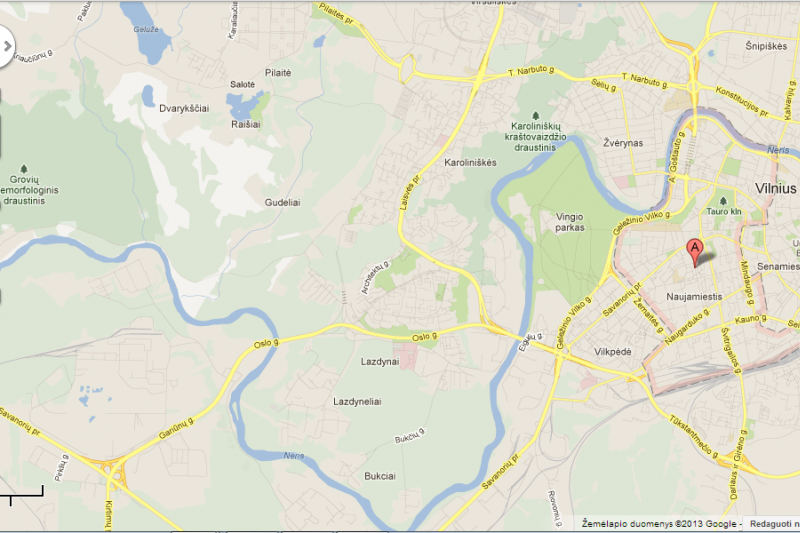 """""""Google"""" žemėlapiuose - eismo sąlygos Vilniuje"""