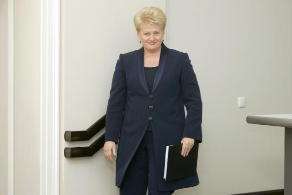 JAV palaikymas padėjo išlaikyti viltį, kad Lietuva bus nepriklausoma, sako Prezidentė