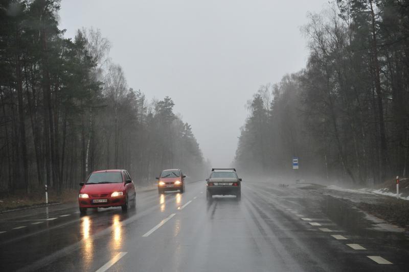 Kelininkai: pagrindiniai šalies keliai - šlapi arba drėgni