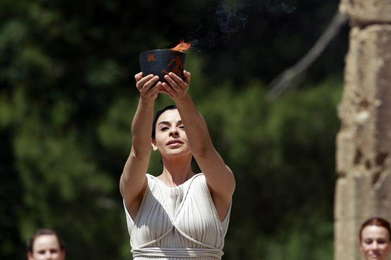 Olimpijos mieste įžiebta olimpinė ugnis