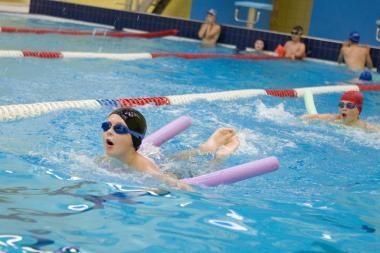 Ignalinos baseine vyko penktasis plaukimo maratonas