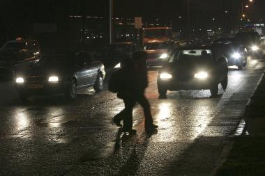 Kauno policininkas partrenktas pakeliui į tarnybą
