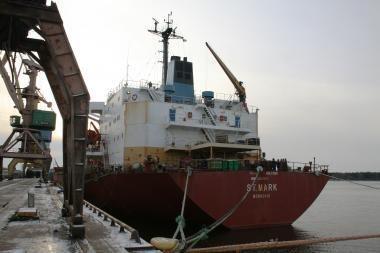 """Klaipėdiečiai leido išplaukti sulaikytam laivui """"St.Mark"""""""