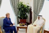 D.Grybauskaitė: Lietuvos ir Kataro bendradarbiavimui durys atvertos