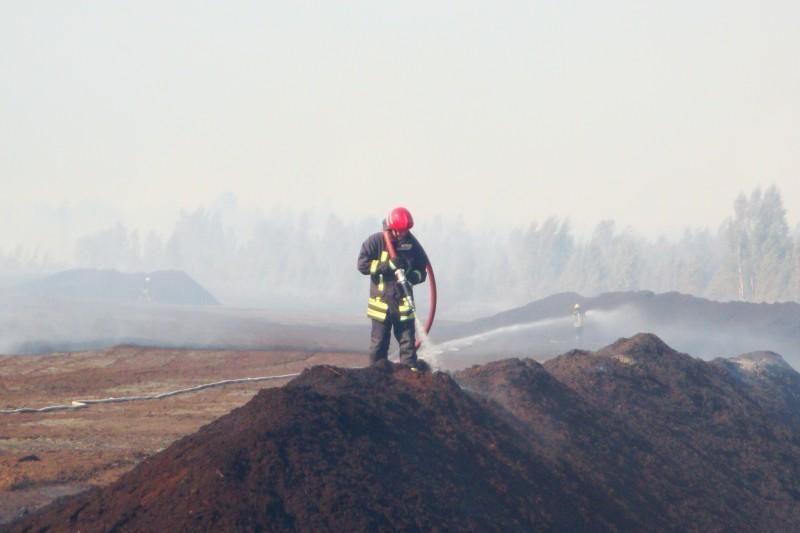 Likviduotas gaisras durpyne Kupiškio rajone