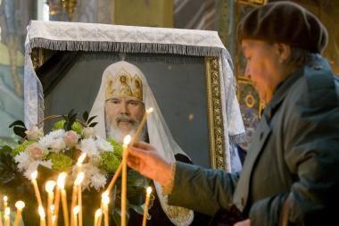 Rusija atsisveikina su patriarchu Aleksijumi II