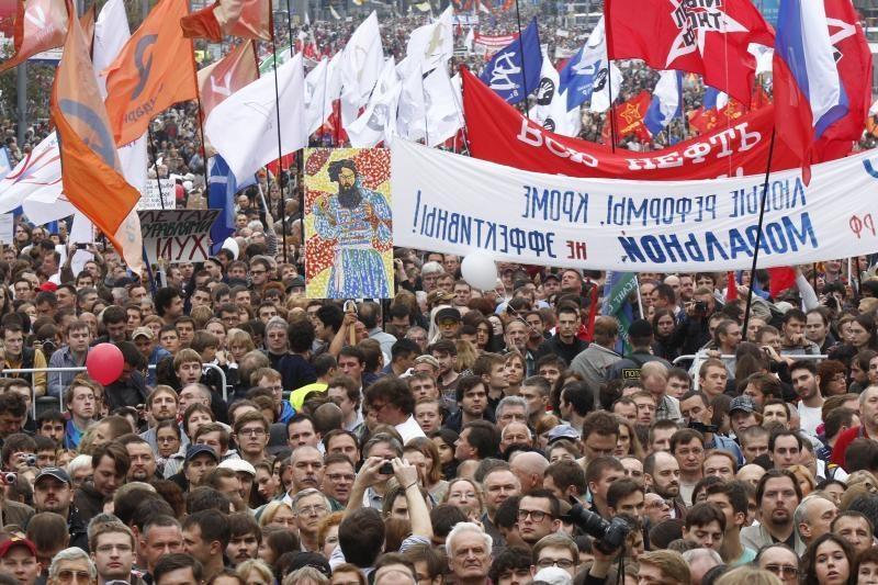 Maskvoje opozicija surengė protesto eitynes