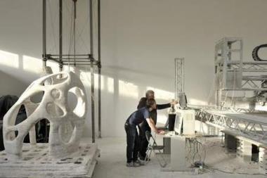 3D spausdintuvas galėtų kurti Mėnulio bazes