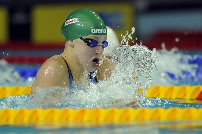 Anykščių 25 m ilgio baseine - geriausių Lietuvos plaukikų pasirodymas