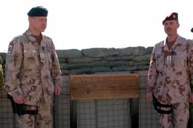 Afganistane įamžintas žuvusio Lietuvos kario atminimas