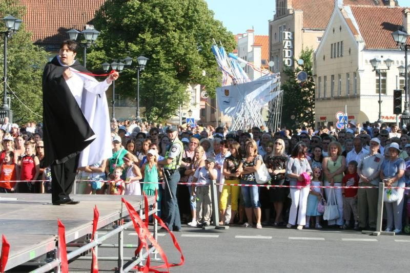 Klaipėdos centre jau apribotas eismas