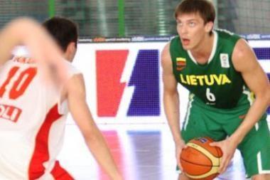 Jaunimo krepšinio rinktinė įveikė juodkalniečius