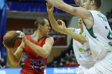 R.Šiškauskas vedė į pergalę CSKA ekipą