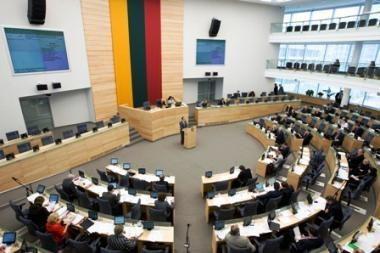 Seimas neatlieka iki dviejų trečdalių suplanuotų darbų