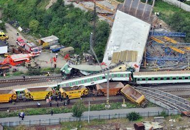 Čekijoje – kraupi traukinio katastrofa (video)