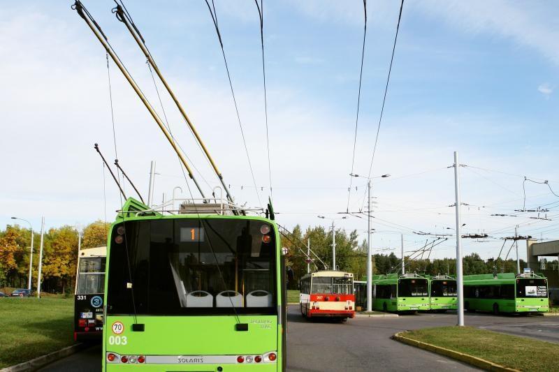 Dėl Nuokalnės gatvės remonto keičiamas troleibusų maršrutas