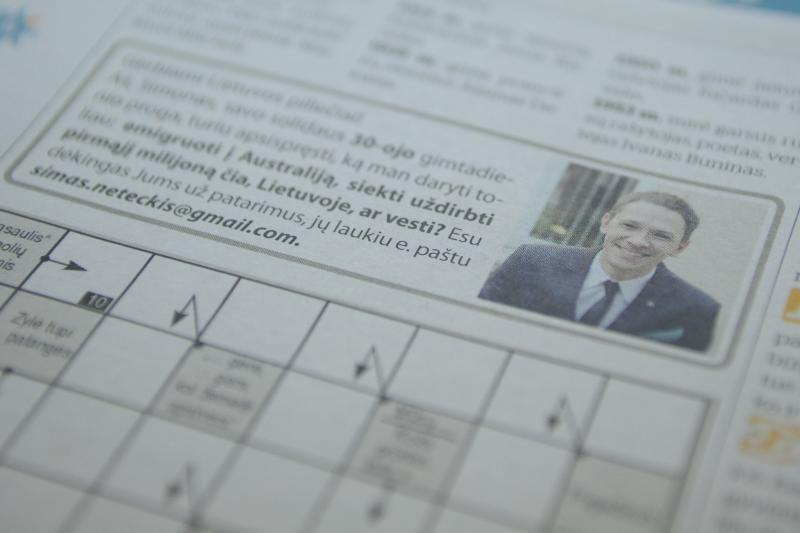 Vyras skelbime prašo patarimo: emigruoti, likti Lietuvoje ar vesti