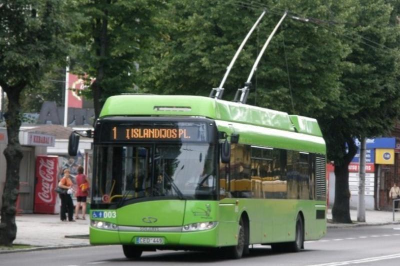 """Parodos ir K. Petrausko gatvėse troleibusų tinklą ties """"Autrolis"""""""
