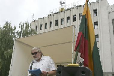 Policija V.Šustausko nuo blokados neatkalbėjo