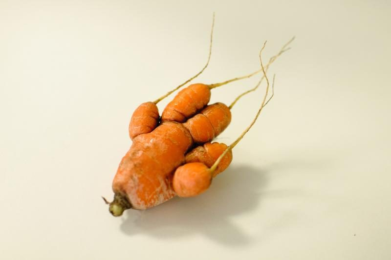 Daržininkę apstulbino neįprasta morka