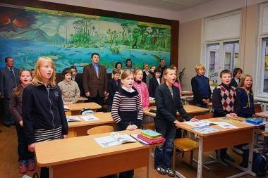 V.Kudirkos mokykloje pirmadieniais giedamas himnas