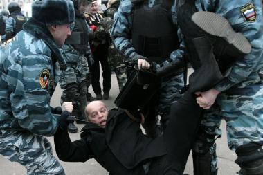 Milicija nutraukė opozicijos protestą
