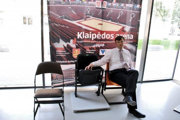 Klaipėdos arenoje – konfliktas dėl kėdžių