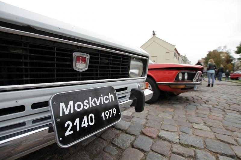 Klaipėdos senamiestyje – senovinių automobilių paradas