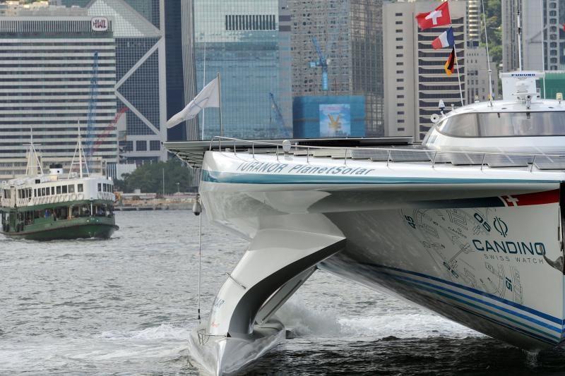 Jachta su saulės moduliais baigia kelionę aplink pasaulį