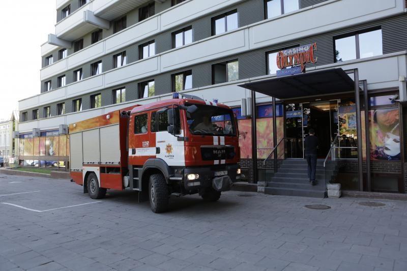 Klaipėdos ugniagesiai skubėjo gesinti kazino