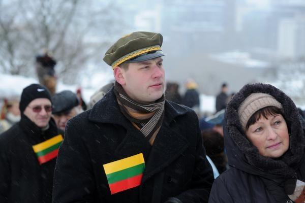 Gedimino kalno Pilies bokšte vyko Lietuvos vėliavos dienos paminėjimas