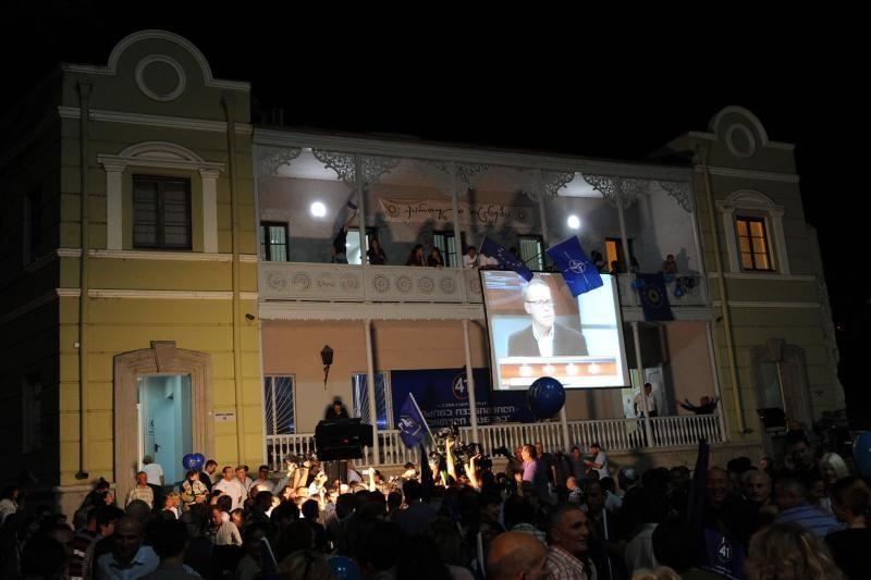 M. Saakašvilis pripažino pralaimėjimą parlamento rinkimuose