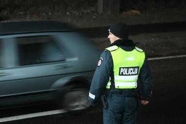 Policininkai stebės vairuotojus