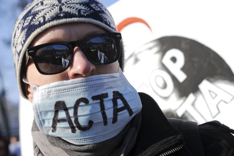 Protestuojančius prieš ACTA palaiko sostinės meras A.Zuokas