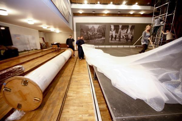Lietuvą pasiekė didžiausias kada nors šalyje rodytas Žalgirio mūšio paveikslas