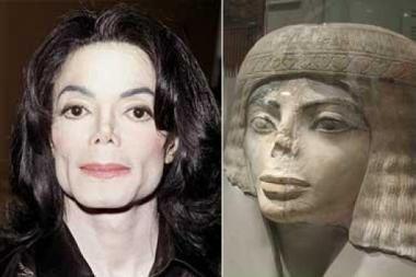 Michaelo Jacksono veidas - senovės Egipto skulptūros kopija