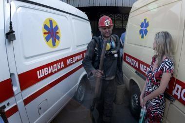 Ukrainoje išgelbėtas kalnakasys išbuvęs šachtoje tris paras