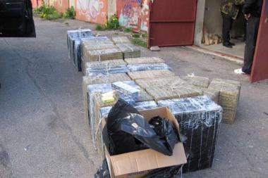 Klaipėdoje demaskuota kontrabandinių rūkalų saugykla