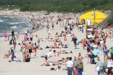 Palangos paplūdimiuose – verslo zonos