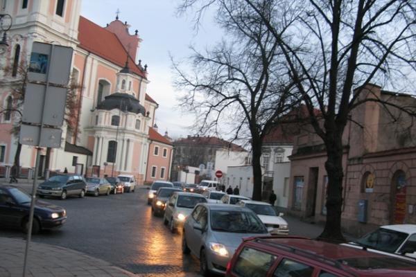 Vilniaus centrą sukaustė spūstys