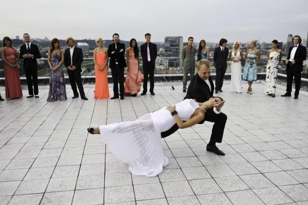 """""""Kviečiu šokti"""" pristatymas – 61 metro aukštyje"""