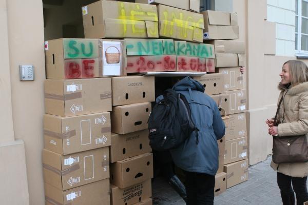 VSD dėmesys studentų protestui nesukliudė