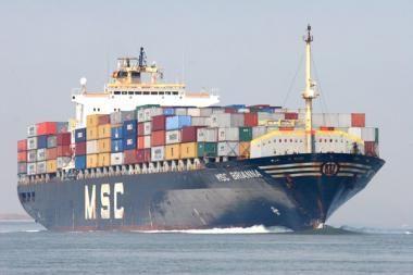 """Uostamiestyje pirmą kartą viešės laivas """"MSC Brianna"""""""