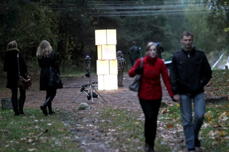 Pilaitės rajonas sužibo šviesų instaliacijomis