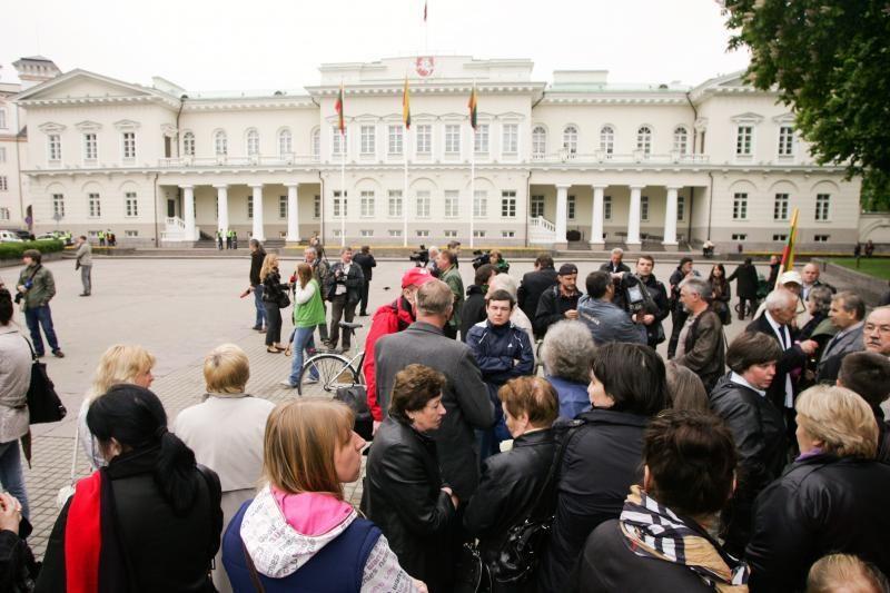 Vilniaus valdžia neleido prie Prezidentūros statyti palapinių