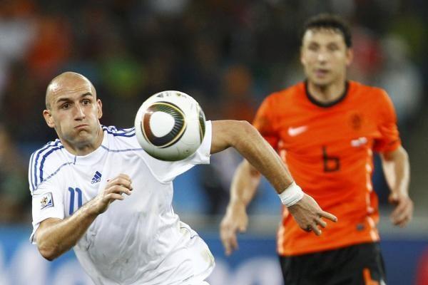Pasaulio futbolo pirmenybių aštuntfinalis: olandai įveikė slovakus