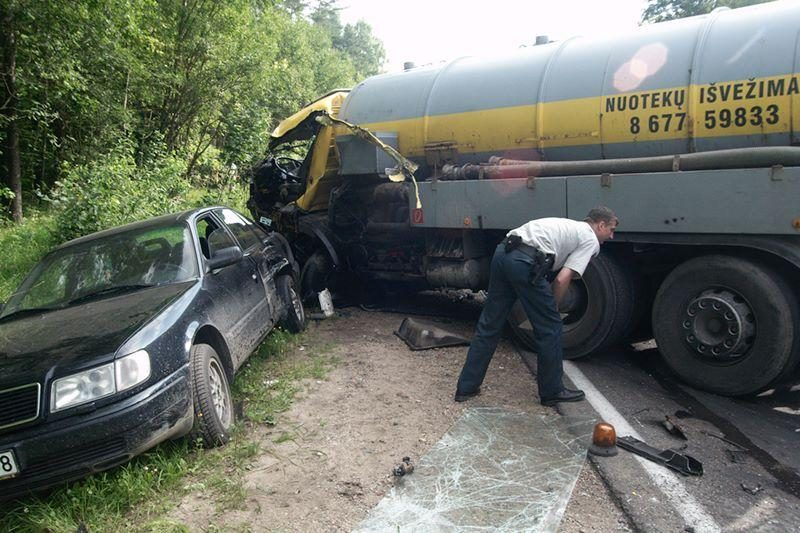 Dėl avarijos Eišiškių plente sustabdytas eismas