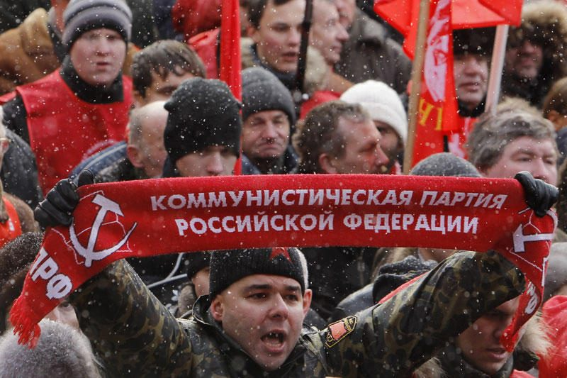 Per Maskvą leido žygiuoti 50 tūkst. žmonių